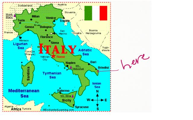 Italy On The Map